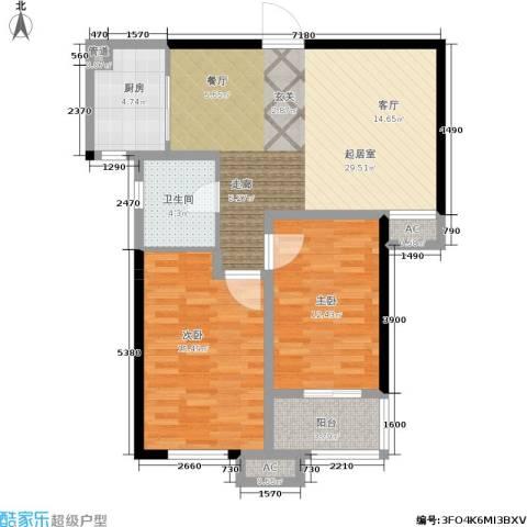 三和馨苑2室0厅1卫1厨82.00㎡户型图