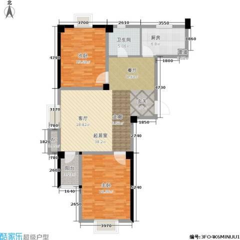 三和馨苑2室0厅1卫1厨100.00㎡户型图