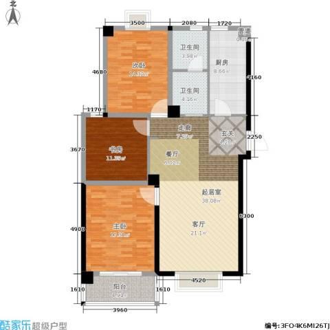 三和馨苑3室0厅2卫1厨116.00㎡户型图