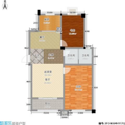 三和馨苑2室0厅2卫1厨106.00㎡户型图