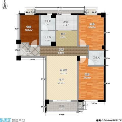 三和馨苑3室0厅3卫1厨135.00㎡户型图