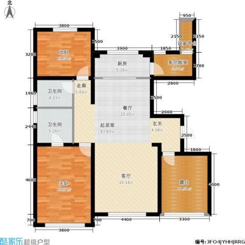 宜和澜岸2室0厅2卫1厨126.00㎡户型图