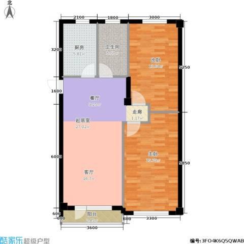 锦山秀城2室0厅1卫1厨86.00㎡户型图