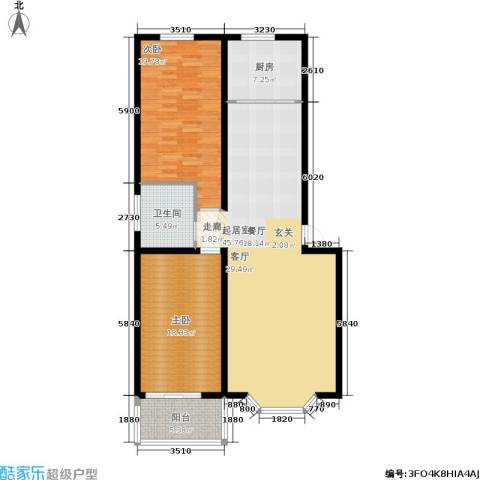 幸福里2室0厅1卫1厨113.56㎡户型图
