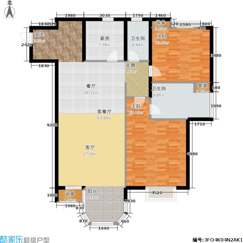 京津新城高尔夫公寓141.87㎡公寓标准层A户型