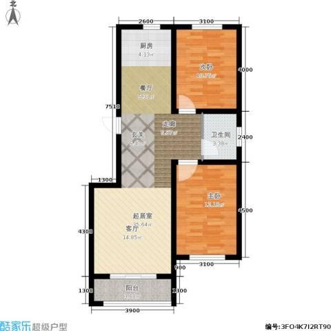 百合世嘉2室0厅1卫0厨94.00㎡户型图