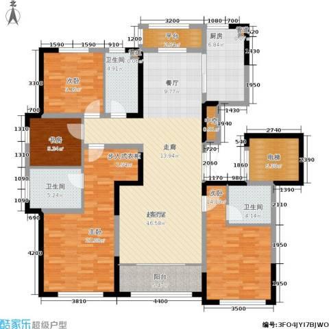 融创洞庭路壹号4室0厅3卫1厨164.00㎡户型图