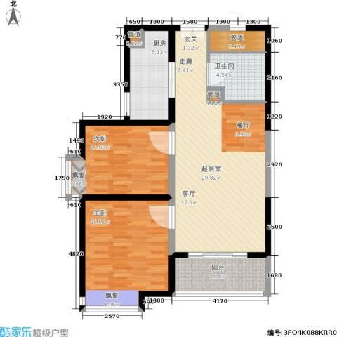 龙城四季2室0厅1卫1厨88.00㎡户型图