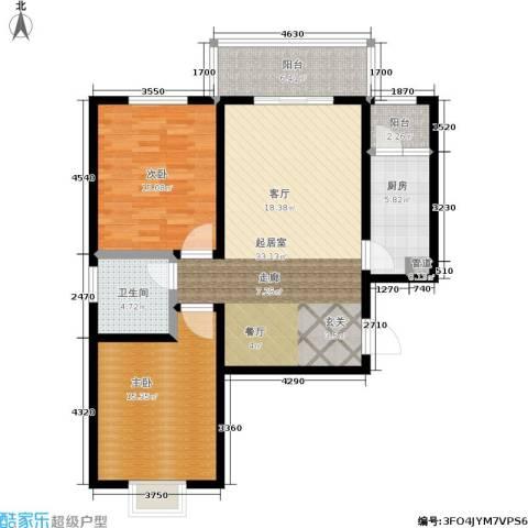 白鹿花园2室0厅1卫1厨94.00㎡户型图