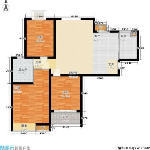 领秀冠南苑3室0厅1卫1厨119.00㎡户型图
