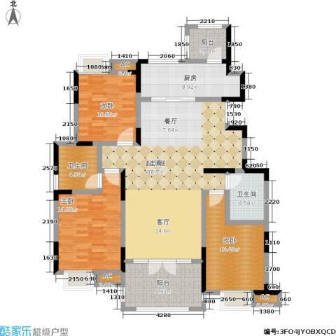 融科贻锦台3室0厅2卫1厨132.00㎡户型图