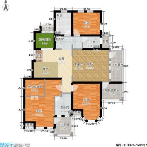 新凯东市尚品3室1厅2卫1厨177.00㎡户型图