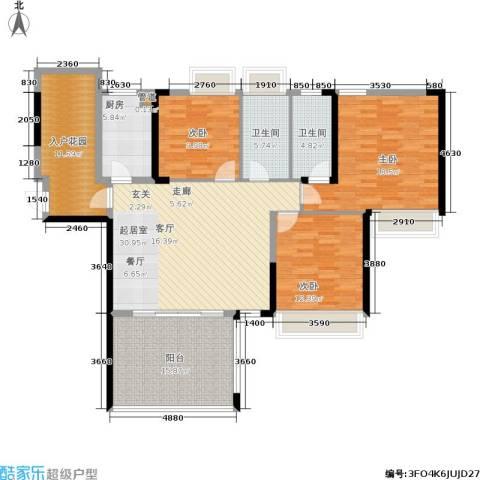 路福江韵华府3室0厅2卫1厨163.00㎡户型图
