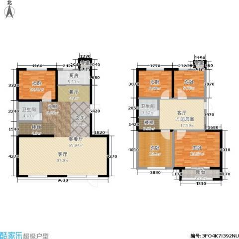 百合世嘉5室1厅2卫1厨187.00㎡户型图