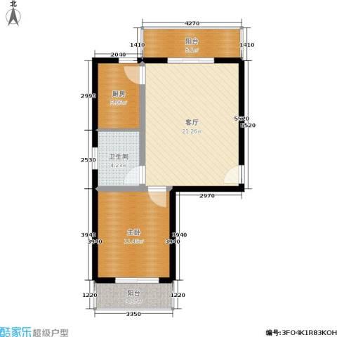 云山林海1室1厅1卫1厨73.00㎡户型图