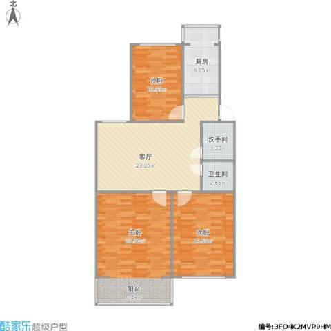 御河苑3室1厅1卫1厨114.00㎡户型图
