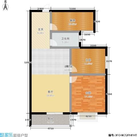 锦绣花园2室0厅1卫1厨99.00㎡户型图