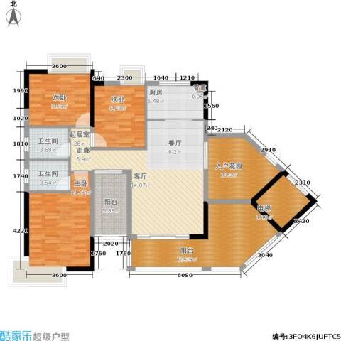 路福江韵华府3室0厅2卫1厨159.00㎡户型图