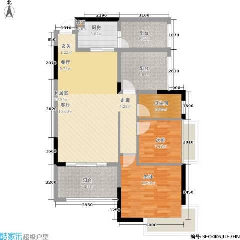 路福江韵华府2室0厅1卫1厨111.00㎡户型图