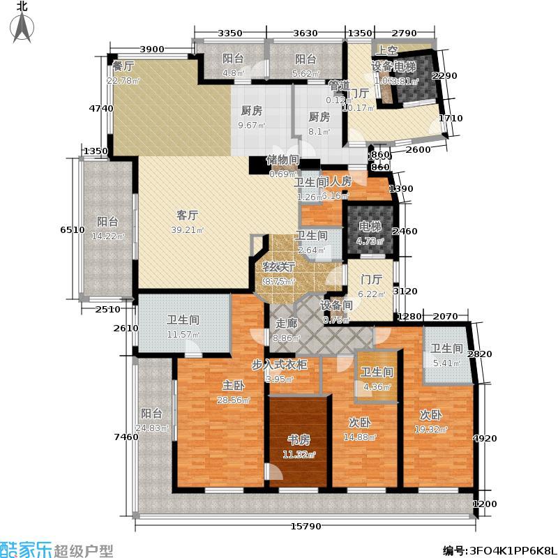 绿城黄浦湾328.00㎡大平层户型3室2厅