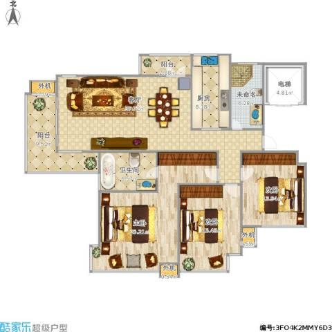 东湖大郡3室1厅1卫1厨179.00㎡户型图
