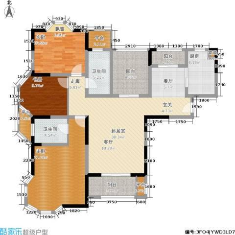 永新秀郡3室0厅2卫1厨133.00㎡户型图
