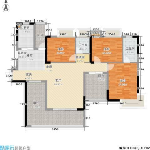 路福江韵华府3室0厅2卫1厨168.00㎡户型图