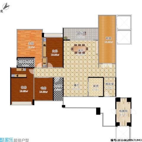 龙光君御旗峰豪园226平3室1厅1卫1厨237.00㎡户型图
