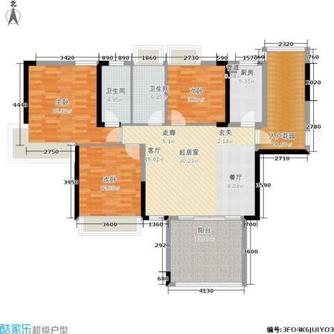 路福江韵华府3室0厅2卫1厨155.00㎡户型图