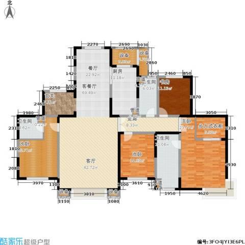 融创中央学府4室1厅3卫1厨216.00㎡户型图