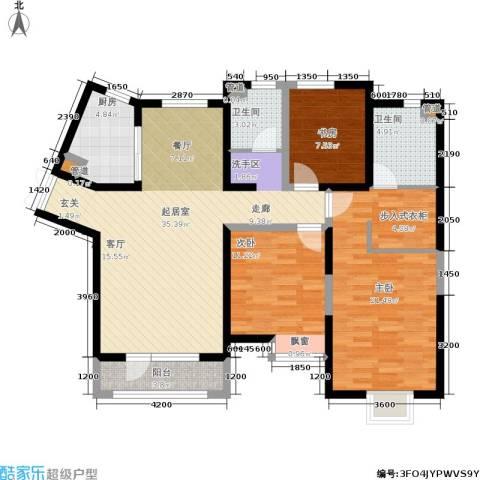 公园六号3室0厅2卫1厨142.00㎡户型图