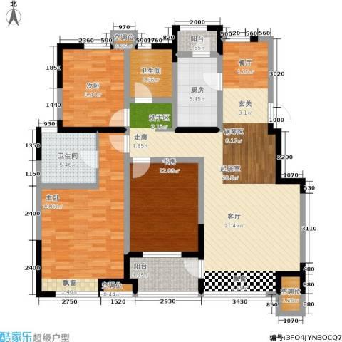 亚泰津澜3室0厅2卫1厨135.00㎡户型图