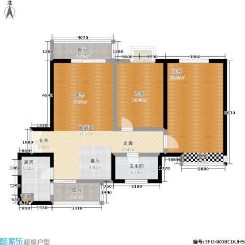 龙城四季2室0厅1卫1厨105.00㎡户型图