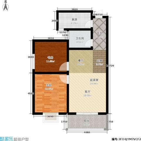 白鹿花园2室0厅1卫1厨89.00㎡户型图