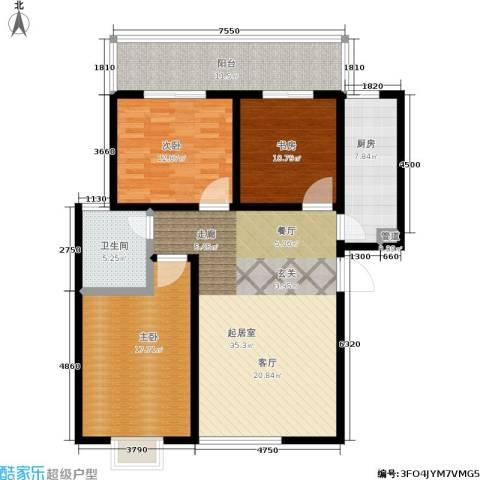 白鹿花园3室0厅1卫1厨115.00㎡户型图