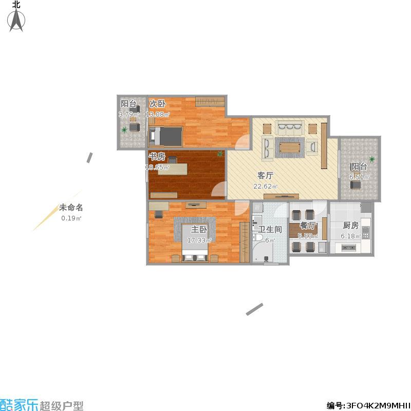中庚海德公园112户型三室一厅
