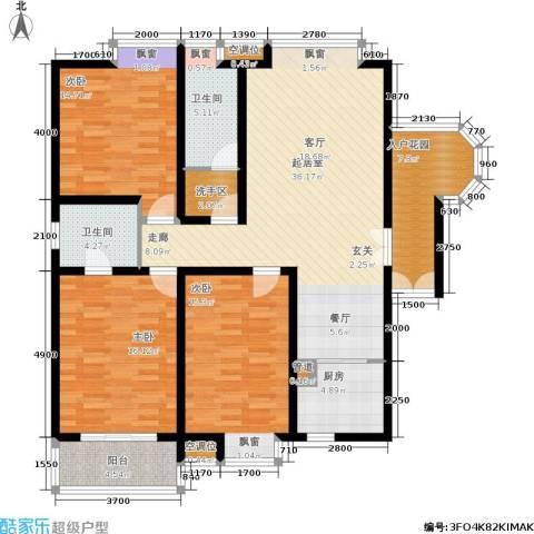 龙城四季3室0厅2卫1厨142.00㎡户型图