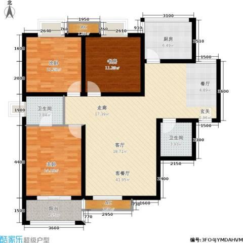 西江月3室1厅2卫1厨129.00㎡户型图