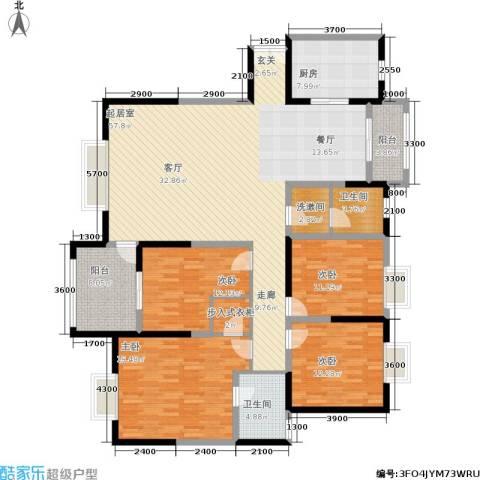 曲江观山悦4室0厅2卫1厨191.00㎡户型图