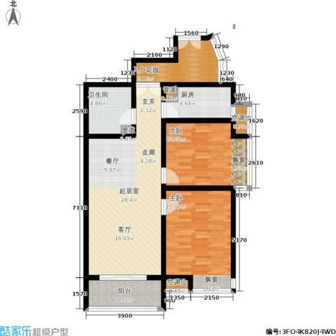 龙城四季2室0厅1卫1厨93.00㎡户型图