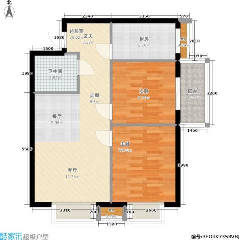 启迪・书香逸居2室0厅1卫1厨89.00㎡户型图