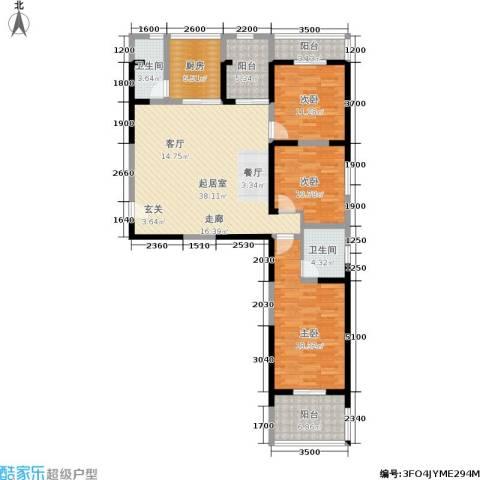 宏信国际花园3室0厅2卫1厨148.00㎡户型图