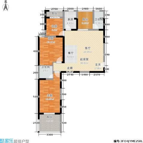 宏信国际花园3室0厅2卫1厨138.00㎡户型图