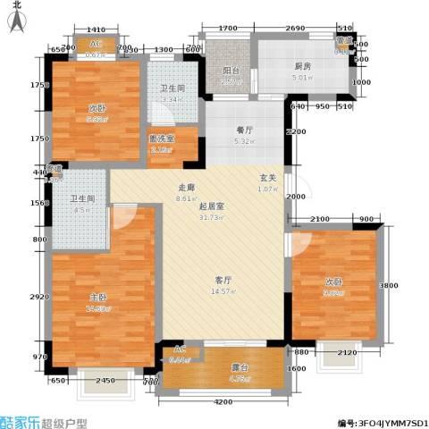 大地12城3室0厅2卫1厨112.00㎡户型图