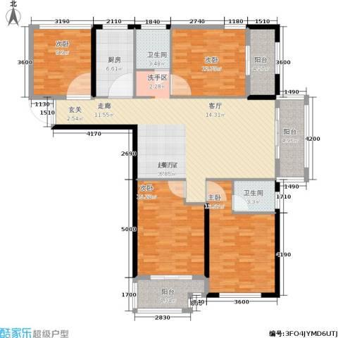 隆源国际城4室0厅2卫1厨137.00㎡户型图