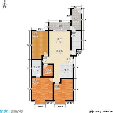 馨雅园3室0厅2卫1厨142.00㎡户型图