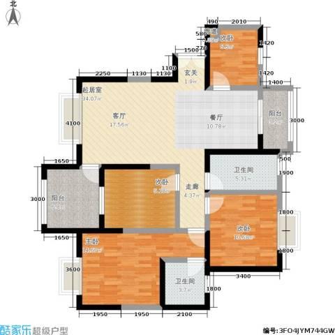 曲江观山悦4室0厅2卫0厨128.00㎡户型图
