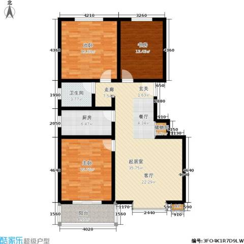朱雀门3室0厅1卫1厨138.00㎡户型图