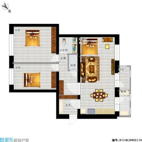 农林小区2室1厅1卫1厨135.00㎡户型图