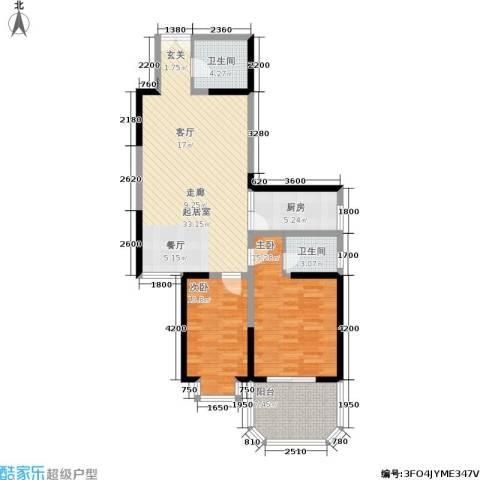 宏信国际花园2室0厅2卫1厨105.00㎡户型图